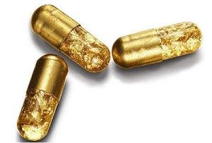 Pílulas que, literalmente, valem ouro.